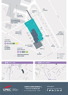 Carte du Campus Henri Mondor