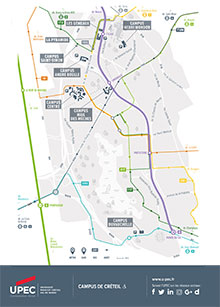 Carte des campus de Créteil
