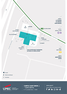Carte du Campus Saint-Simon